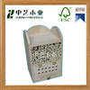 Customizable wildlife handmade wooden insect house, wooden bee house