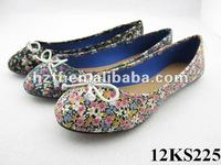 Cheap flower print dance shoes