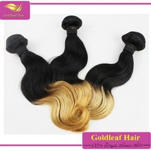 Wholesale Ombre color two tone Best Quality Body Wave Brazilian Human Hair Extension