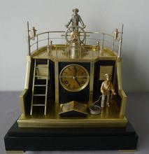 2015 beautiful craft decorative brass antique skeleton clock