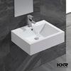 Wall mounted modern bathroom sink white