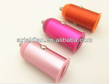 Portable usb car charger, colorful metal design 2.1A car charger for ipad/iphone