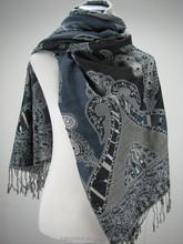 fashionable paisley jacquard lady's shawl,acrylic scarf