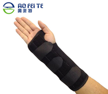 Aofeite Black Neoprene Adjustable Right Hand Wrist Palm Support Splint Brace