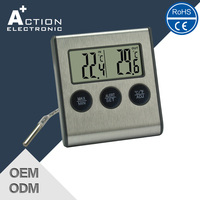 New Product Fast Production Hot Quality Temperature And Humidity Meter With Alarm Clock