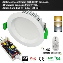 Color Changeable Led Downlight SAA Fire Rated 12W LED downlight Color Changeable, Color Change Dimmable LED downlight