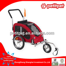 bicycle pet trailer with suspension systems for large dog