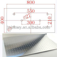 High quality brushed surface ceiling mounted 40cm*80cm led over head shower head