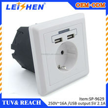 really factory uv radiation waterproof wall socket with dual USB ports