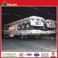 Three FUWA axles container flat deck semi trailer to transport all kinds containers