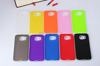 Soft TPU+PC Cellphone Case Hight Quality Translucent Matte two in one For S6 Back Cover