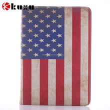 Hot sale flag design folio high quality leather case for ipad 6