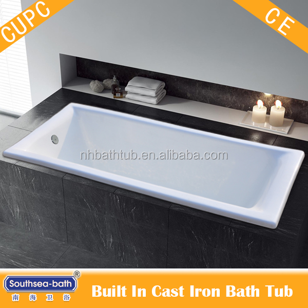 Built In Cast Iron Enamel Bathtub From Manufacturer China Buy Built In Cast