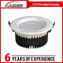 2015 New Design round shape Black/white cob 20w/ 30w led down light housig/ closure
