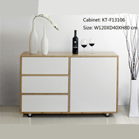 New Design Bamboo Sideboard With 3 Drawers On Sale