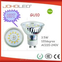 New fashion design glass 3w 220-240v 120 degree led gu10 spotlight