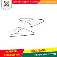 Chrome Front Head light Lamp Cover Trim For Teana Altima 2013 2014 2015