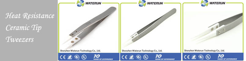 ESD-14 black anti static professional point metal tweezers