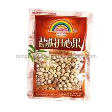 customized dried peanut with window, 3 side sealed peanut bag