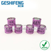 high quality beautiful purple color ring bands 8mm print HK or other words on rings