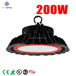 DALI LED driver 140lm/W LED high bay light fixtures 100W-300W for warehouse with motion sensor control UL&DLC listed