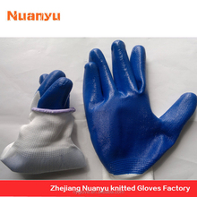 oil and gas safety equipment green nitrile glove fish cleaning rubber glove