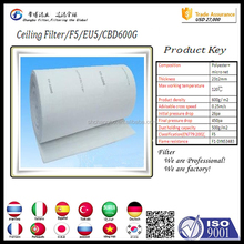 ceiling filter material/downdraft filter material paint booth for sale/air filter fabric