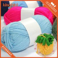 Blue 8s/3 raffia yarn for crochet knitting