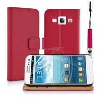 Popular Design Genuine Leather Flip Pocket Phone Case For Samsung Galaxy S3