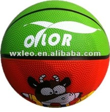 Toy rubber basketballs