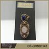 Hot Sale Turkish Stone Jewelry Fashion Blue And Crystal Diamond Ring Set