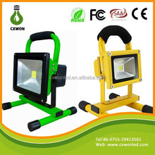 China products portable lighting 4.5H indoor/outdoor work light 10w rechargeable led flood light