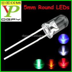 1.7-3.5v red green blue white yellow orange Ultra bright 5mm round led/0.06w 5mm round led diodes ( CE & RoHS Compliant )