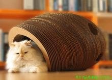 custom cute design indoor cardboard cat house