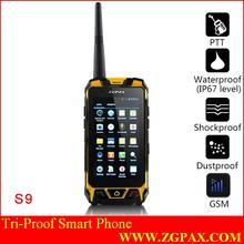 Dual sim watch phone waterproof IP67 2014 PTT ZGPAX long range talkie walkies