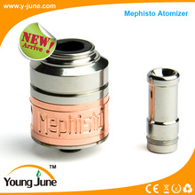 Mephisto atomizer best vaporizer adjustable airflow 18650 battery ss copper