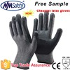 NMSAFETY grey polycotton cheap latex work gloves