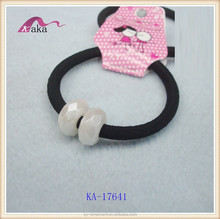 simple type ladies rubber bands,cheap rubber bands,beads decorative rubber bands
