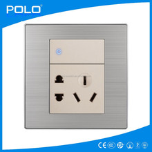 hot multi-role 2 gang 1 way switch and 5 hole socket high quality europe switch and socket