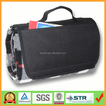 Wholesale fold up picnic blanket mat with waterproof nylon