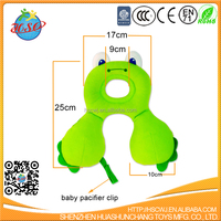 Hot Sale Green Frog Baby Car Headrest Pillow