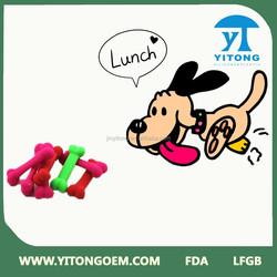 2015 Best sale FDA/LFGB silicone dog chew bone toy