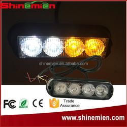 Surface Mount LED Strobe Light / Amber White Led Warning Light / Emengency Vehicle Light