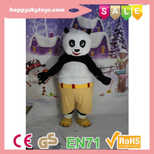 Juguete divertido de los cabritos! venta caliente traje de la panda, personaje de dibujos profesionales disfraces