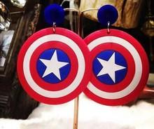 2015 Popular Cartoon Personality Long Shield Earrings