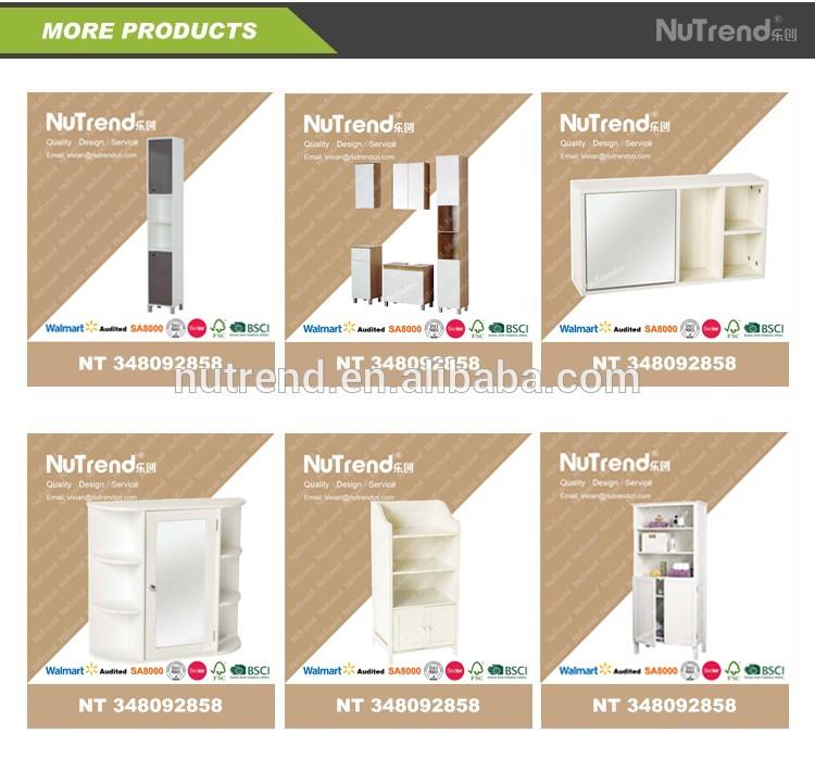 Moderne salle de bains en bois vanit de stockage armoire for Armoire de salle de bain moderne