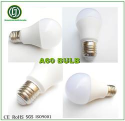 Free samples!Top quality ac100-277 v/50Hz A60 led e27 energy saving bulb 9W pf0.9 lampada