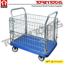 Supermarket Heavy Duty Metal Wire Stainless Steel Roll Cage