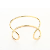 18k Gold Plated Cuff Bracelets&Bangles Jewelry BT6-7878-2780-19.0