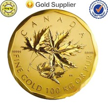 Hot Sale High Quality Round Metal Custom Gold Coin